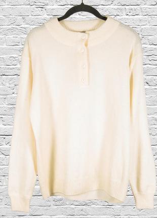 Молочный свитер женский, свободный свитер белый, оверсайз джем...