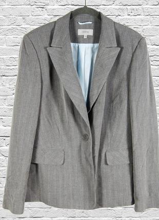 Серый пиджак свободный, модный жакет в полоску, свободный овер...