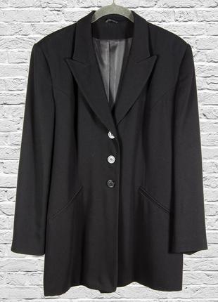 Черный удлиненный пиджак, классический пиджак длинный, пиджак ...