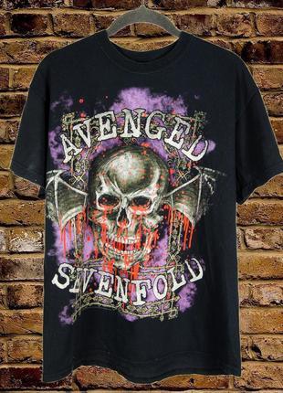 Черная мужская футболка с черепом, черная футболка с принтом