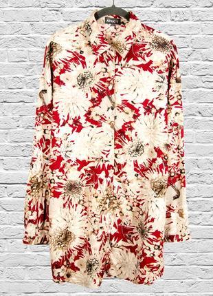 Шифоновая рубашка удлиненная, женская рубашка с длинным рукаво...