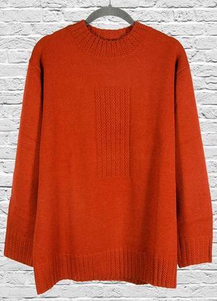 Коричневый свитер оверсайз, женский свитер свободный, женский ...
