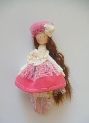 Кукла ручной работы, высота 15 см. текстильная кукла, кукла ти...