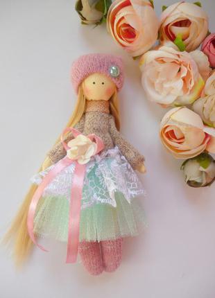 Кукла ручной работы высота 15 см. мини кукла,кукла тильда,кукл...