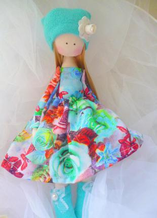 Текстильная кукла ручной работы, высота 25см. интерьерная кукл...