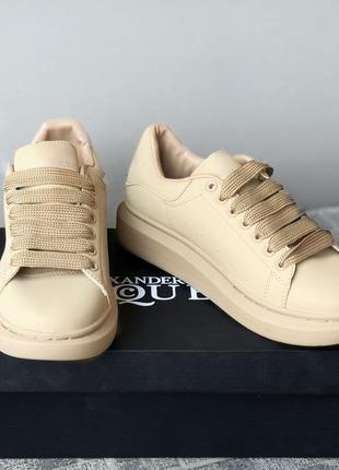 Alexander mcqueen oversized sneakers beige🆕шикарные кроссовки ...