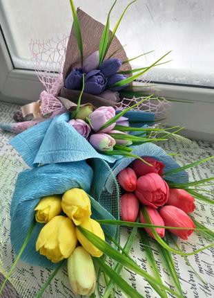 Букеты тюльпанов из мыла ручной работы