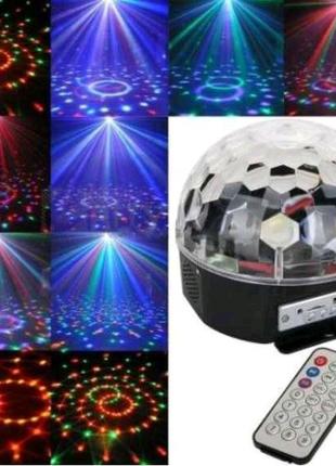 Музыкальный диско-шар с Bluetooth, USB, светомузыкой, 2-я динамик