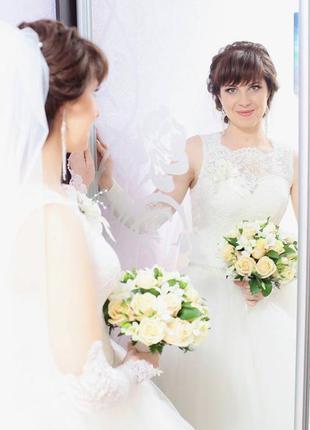 Красивое модное свадебное платье в пол с открытой спиной cв-586