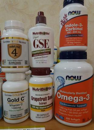 Витамины iHerb (Витамин С, Д, В, цинк, омега)