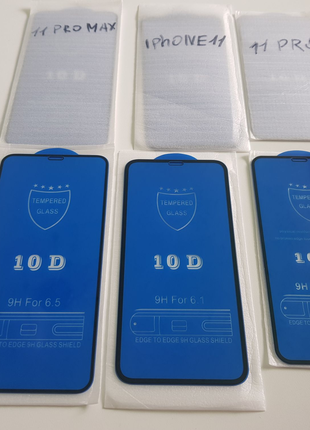 10D Стекло Скло на iPhone 11 Pro Max, 11 Pro, 11. для айфон X, Xs
