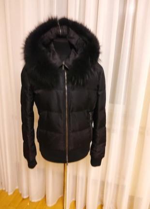 Куртка пуховик с капюшоном  richmond раз. s-m