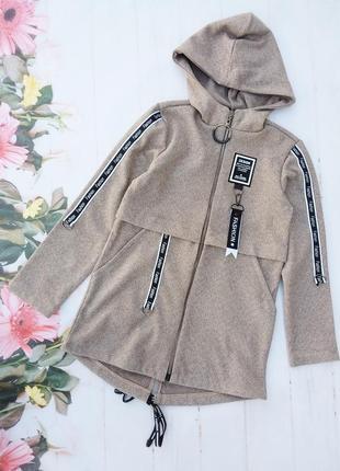 Пальто детское (кардиган) для девочки