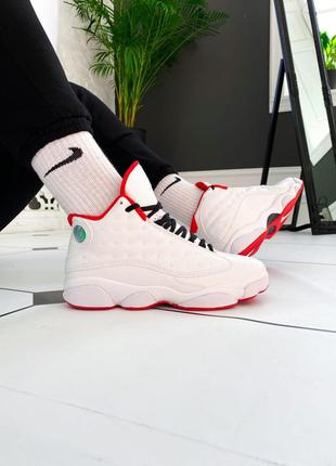 Мужские кроссовки nike air jordan 13 retro white 40
