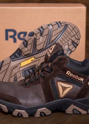 Мужские зимние кожаные ботинки Reebok Crossfit Brown