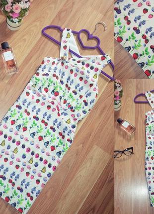 Яркое летнее шелковое платье / сарафан от донателлы версаче / ...