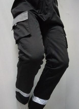 Штаны, брюки, теплые, рабочие, спецодежда, серые, с отражателя...