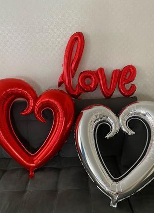 Продам шары подарок сердце love 8 Марта подарок жене для девушки