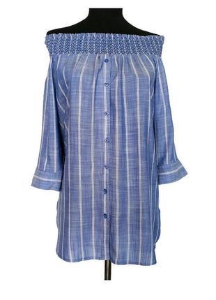 Блуза рубашка с открытыми плечами next.