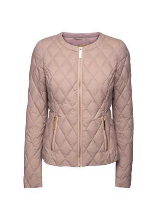 Пудровая куртка пуховик от бренда ticket woman (дания).