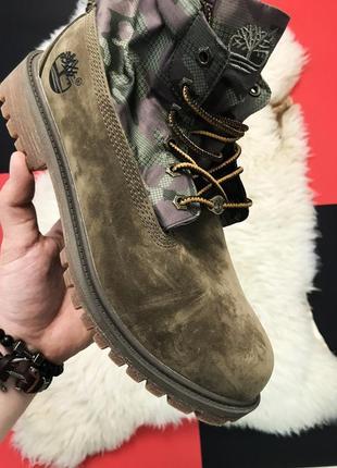 Мужские ботинки тимберленд timberland military green premium t...