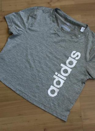 Укороченный топ футболка adidas размер xs