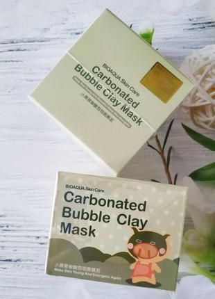 Отшелушивающая пузырьковая маска для лица bioaqua