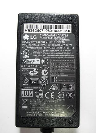 Блок питания для монитора LG 12v 2a 24w, ADS-24NP-12-1, 12024G