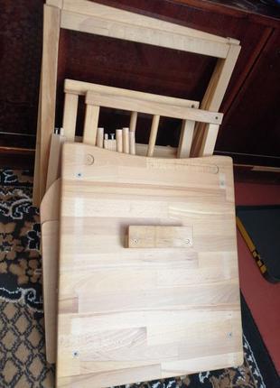 Детский стул трансформер для кормления деревянный