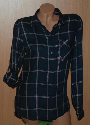 Рубашка женская бренда oasis / регулируемый рукав / клетка/