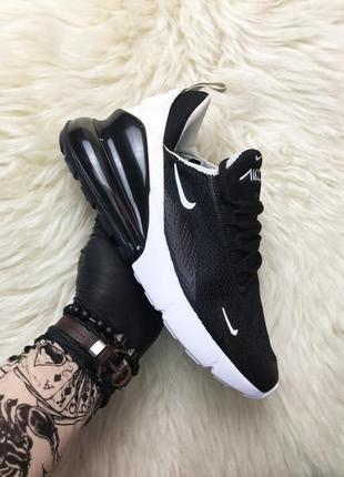 Шикарные женские кроссовки найк nike air max 270 black beige.