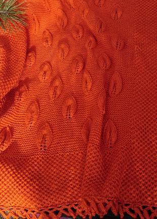 Детский вязаный плед – вязаный плед в коляску, одеяло в кроват...