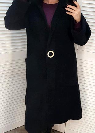Мега крутое !! Пальто из шерсти альпаки! Классическая модель