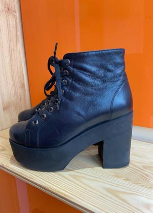 Полусапожки на платформе ботинки ботильоны кожа 36 размер Zara