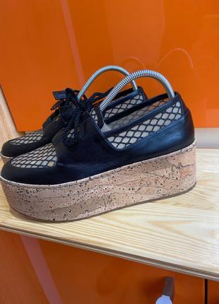 Ботинки туфли на платформе броги оксфорды лоферы Италия rodo