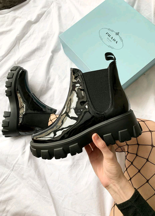 Хит весна-осень ботинки челси на массивной подошве
