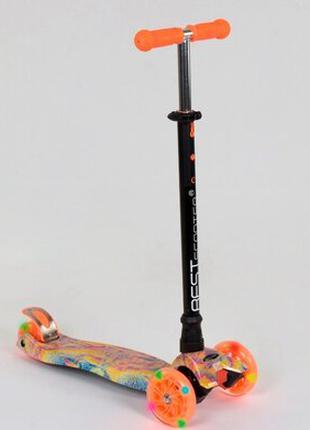 Самокат детский Best Scooter Maxi 1340 пластмассовый, 4 колеса PU