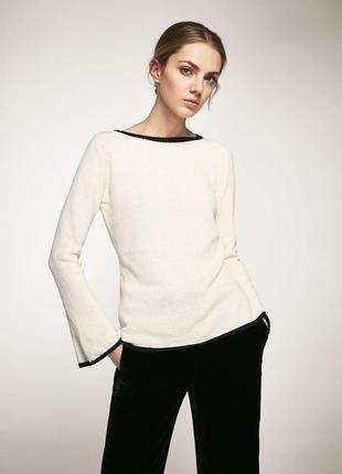 Осенний вязаный свитер с хлопком  с длинным рукавом 🌿