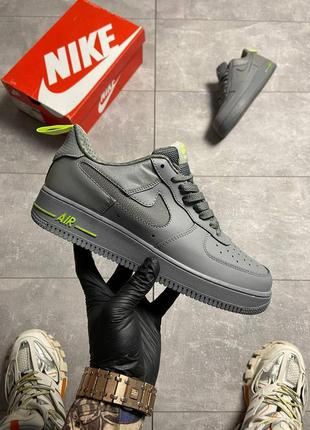 Nike air force 1 low gray green