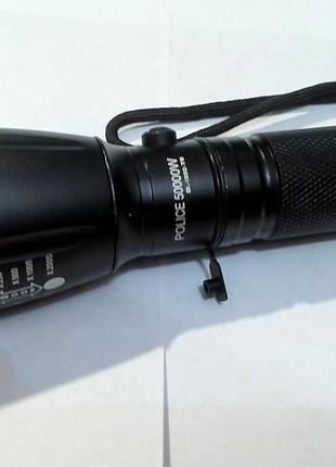Мощный тактический фонарь Police BL-1892-T6 50000W