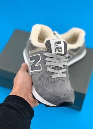 New balance new balance 574 grey winter кроссовки нью баланс н...