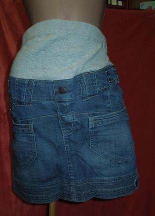 Джинсовая юбка mama для беременных prenatal