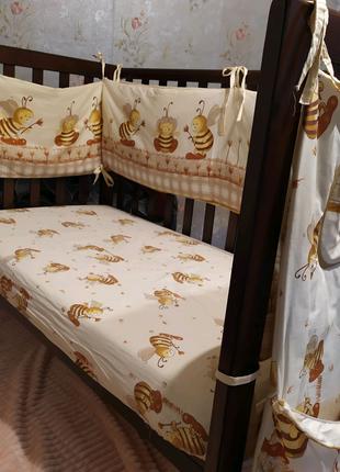 Детская кроватка Верес Соня ЛД 13 ( цвет-орех)