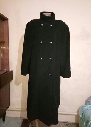 Пальто из шерсти ламы с кашемиром