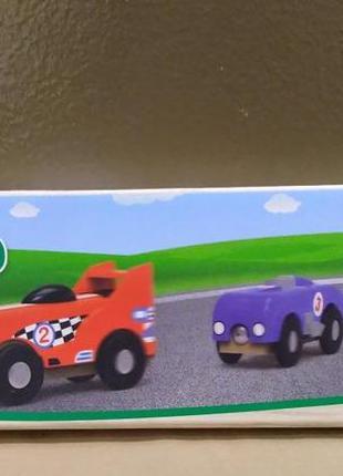 Набор спортивных машин playtiveн для деревянной железной дороги.