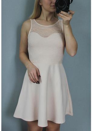 Платье нюдового цвета бретели эксклюзив
