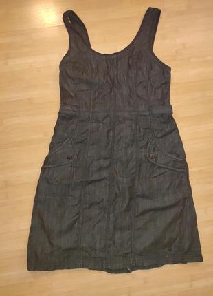 Платье-сарафан джинсовый
