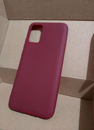 Чехол бордовий Samsung Galaxy A02s Чохол