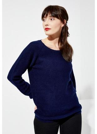 Темно-синий свитерок с люрексовой нитью