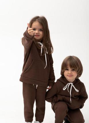 Костюм на девочку оверсайз базовый / костюм на дівчинку оверсайз